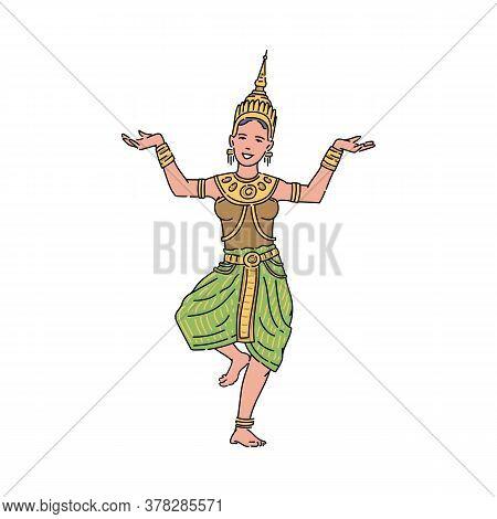 Thai Goddess, Beautiful Woman, Symbol Of Loy Krathong Traditional Holiday.