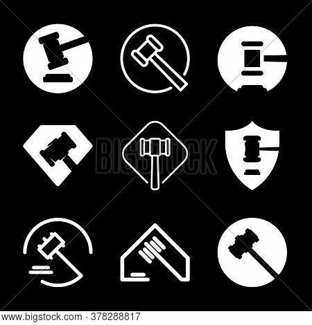 Auction Icon. Judge Or Auction Hammer Icon