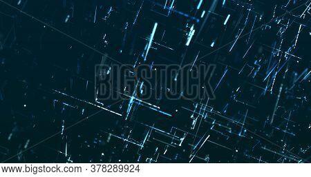 Abstract Digital Network Data Background, 3d Rendering Illustration