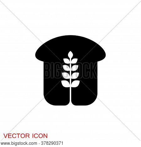 Bread Icon. Bread Bakery Symbol Vector Illustration. Eps 10
