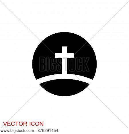 Church Vector Icons Of Religious Christianity Signs And Symbols