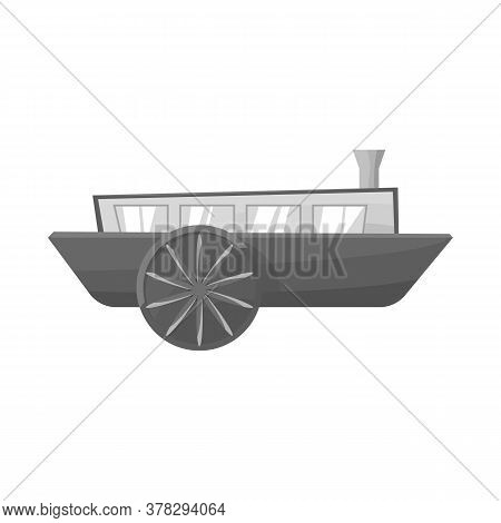 Vector Design Of Wagon And Carriage Logo. Web Element Of Wagon And Old Stock Vector Illustration.