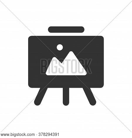 Gallery Easel  Isolated Icon On White Background. Gallery Easel  A Simple Sign Icon. Gallery Easel I
