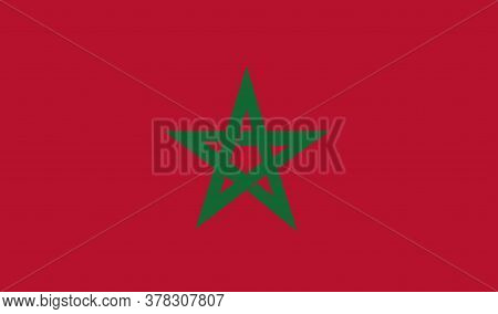 Morocco Flag, Official Colors And Proportion Correctly. National Morocco Flag. Vector Illustration.