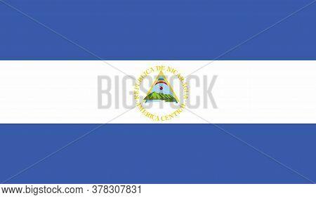 Nicaragua Flag, Official Colors And Proportion Correctly. National Nicaragua Flag. Vector Illustrati