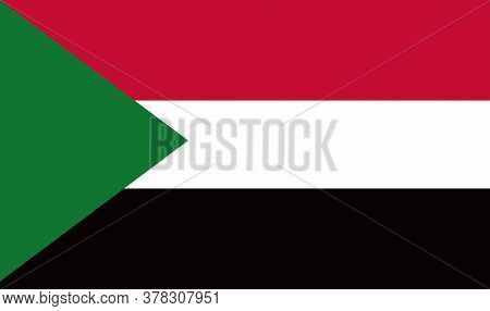 Sudan Flag, Official Colors And Proportion Correctly. National Sudan Flag. Vector Illustration. Flag