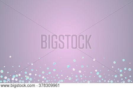Magic Circle Effect Blue Background. Colored Festival Confetti Background. Carnaval Texture. Gradien