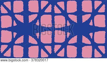 Japanese Tie Dye Seamless Pattern. Deco Shell Arc Design Bohemian Geometric Asian Tie Dye Pattern. B