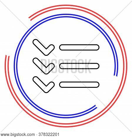 List Icon - Content View Options, List Symbol - Options Sign. Thin Line Pictogram - Outline Editable