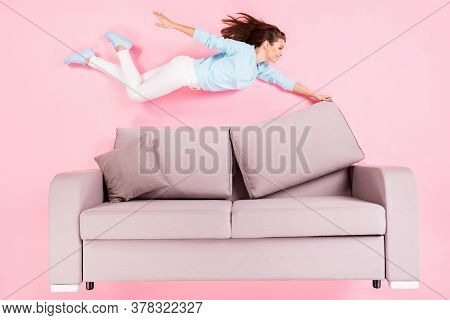 Top View Above High Angle Flat Lay Flatlay Lie Concept Of Her She Nice Attractive Pretty Cheerful Gi