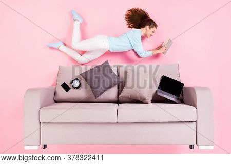 Top View Above High Angle Flat Lay Flatlay Lie Concept Of Her She Nice Attractive Cheerful Focused G
