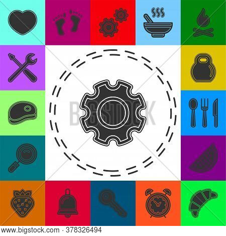 Gears Settings Icon - Cogwheel Gear Mechanism Vector Settings Vector Icon. Flat Pictogram - Simple I