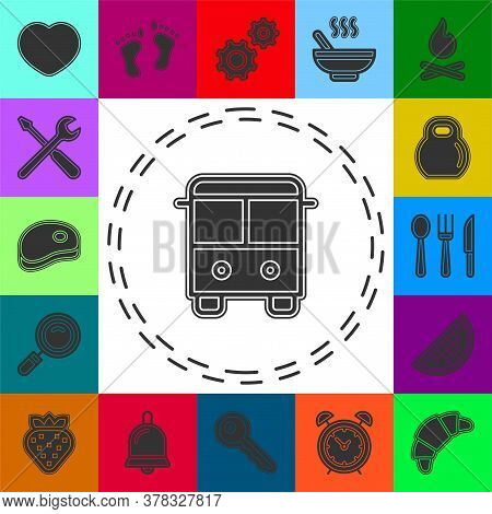 Vector Bus Illustration - Shuttle Bus Symbol, Travel Icon. Flat Pictogram - Simple Icon