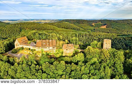 Castle Of Hunebourg In The Vosges Mountains - Bas-rhin, Alsace, France