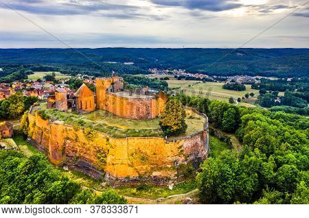 Castle Of Lichtenberg In The Northern Vosges Mountains - Bas-rhin, Alsace, France