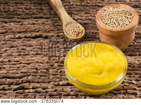 The Yellow Mustard Or Also Called White Mustard, Are The Whole Seeds Of Brasica Alba Coming From The
