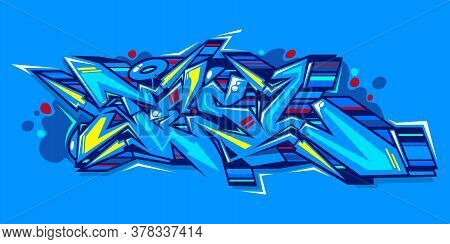 Abstract Word Lets Graffiti Style Font Lettering Vector Illustration