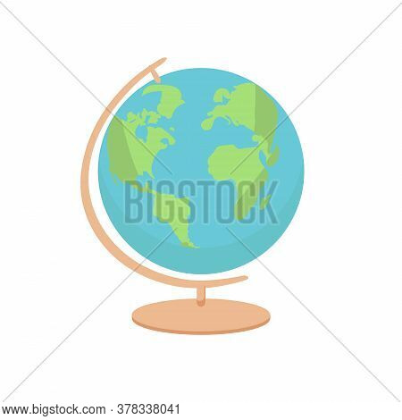 Geography Earth Globe Icon - Vector Illustration. Flat