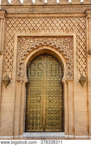 The Gate Of Mausoleum Of Mohammed V In Rabat, Morocco