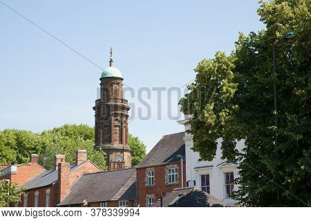 Views Of Roof Tops And St Mary's Church Spire In Banbury In Oxfordshire In The Uk Taken On The 26th