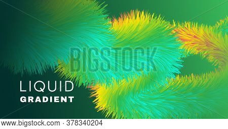 Colorful Fluid Background. 3d Graphic Motion. Gradient Template. Color Digital Fluid Background. Geo