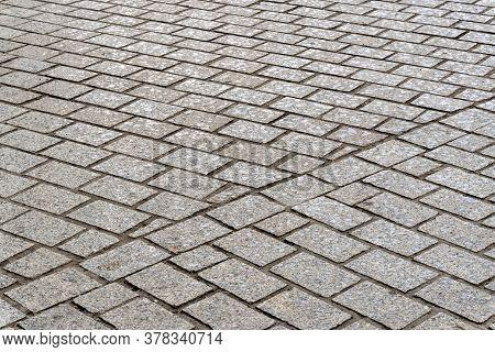 Imitation Of Grey Stucco Brickwork, Civil And Industrial Construction.