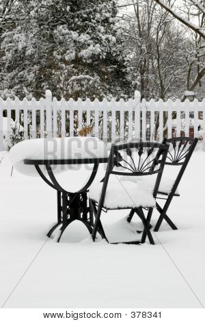 Bistro Set At Rest