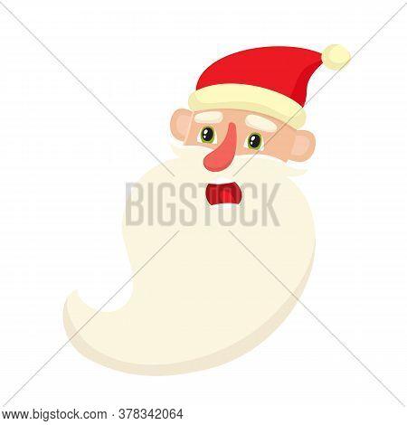 Cute Santa Claus, Surprised Facial Expression, Vector Illustrations