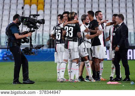 Torino (italy) 26th July 2020. Italian Serie A. Juventus Fc Vs Uc Sampdoria. Players Of Juventus Fc