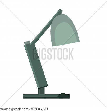 Table Office Lamp. Desktop Electric. Vector Illustration Flat Design. Isolated On White Background.f