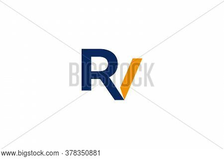 RV . RV logo . letter RV design . RV images. RV icon . RV logo images. RV vector . Letter RV logo . abstract letter RV logo design . vector illustration
