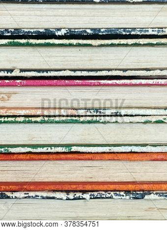 Stack Of Colorful Old Books