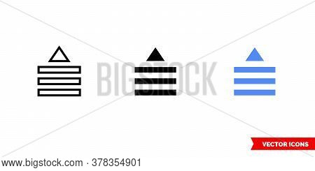Drag List Up Icon Of 3 Types. Isolated Vector Sign Symbol.