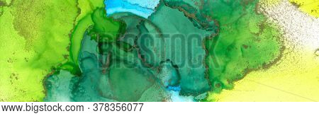Art Abstract painting blots landscape background. Alcohol ink colors. Marble texture.