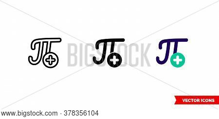 Insert Equation Icon Of 3 Types. Isolated Vector Sign Symbol.
