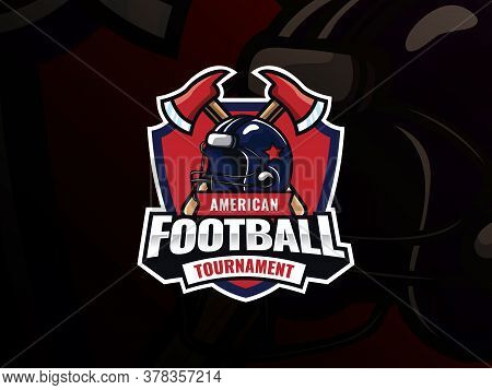 American Football Sport Logo Design. Modern Professional Football Vector Badge. American Football He