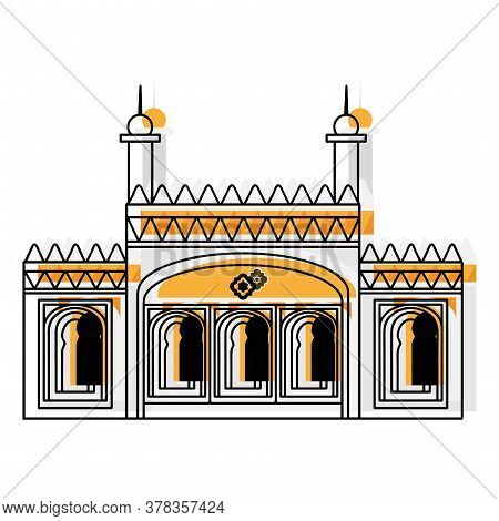 Sketch Of A Mosque Icon. Religious Architecture - Vector