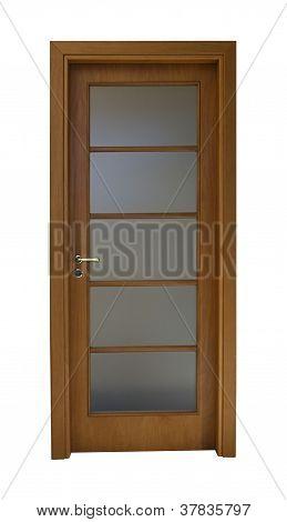 Door With Metallic Detail
