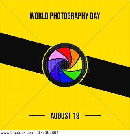 Colorful Shutter Of Camera Vector Illustration. Good Template For World Photography Day Design.