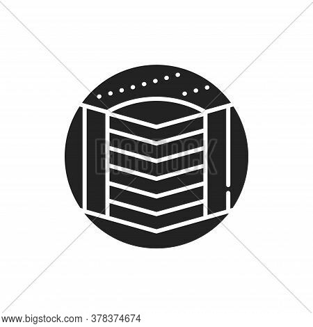 Hard Bed Mattress Black Glyph Icon. Provide Excellent Support. Fix The Vertebrae In The Correct Posi