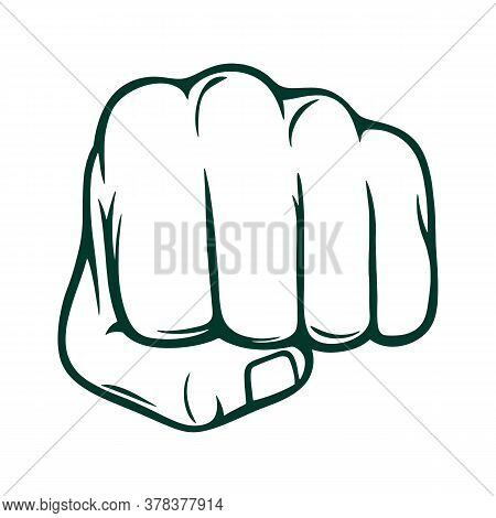 Fist Icon Isolated On White Background. Fist Icon In Trendy Design Style. Fist Vector Icon Modern An