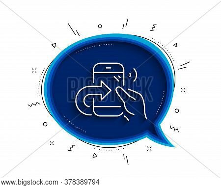Call Center Service Line Icon. Chat Bubble With Shadow. Share Phone Call Sign. Feedback Symbol. Thin