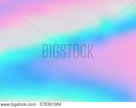 Blurred Hologram Texture Gradient Wallpaper. Blurry Iridescent Mermaid Background. Liquid Colors Neo
