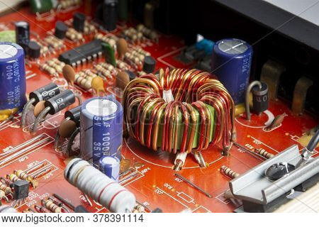 Electromagnetic Coil On Electronic Integrated Circuits Board