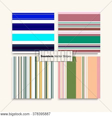 Sailor Stripes Seamless Texture Set. Business Suit Lines Male Childrens Female Seamless Stripes Patt