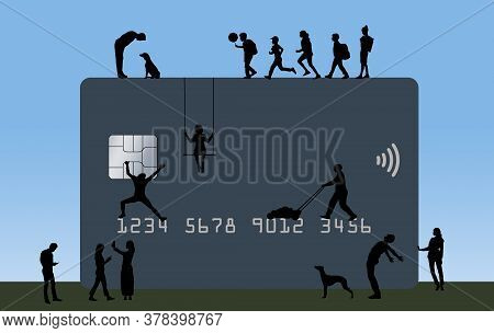 Many People Are Seen On A Versatile Credit Or Debit Card That Can Be Used For Multiple Purposes.