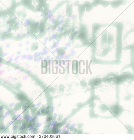 Cloudy Gentle Paint. Multicolor Cloudy Texture. Watercolour Blured Pattern. Colored Rainbow Pattern.