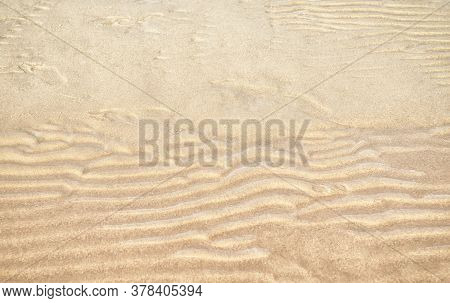 Gold Sand Texture Background. Desert Or Beach Into The Sunny Day. Sand Texture Sand Waves And Sand S