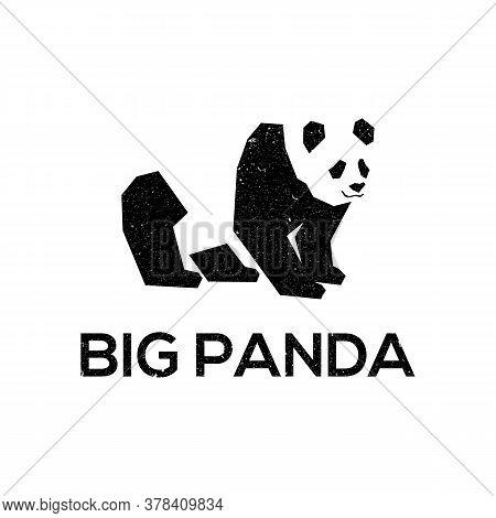 Big Panda Logo Designs Template. Best For Logo Design On Your Website, On T-shirts, Business Cards,