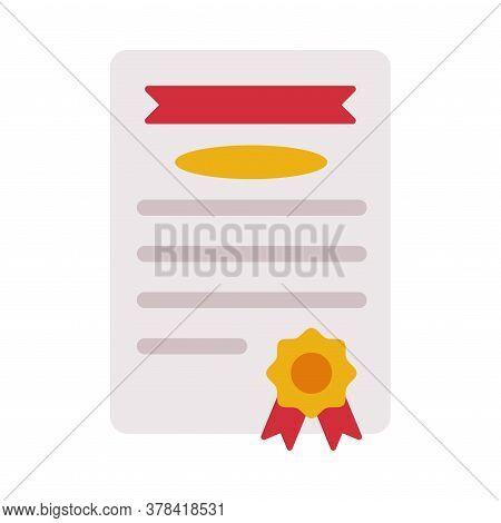 Diploma, Certificate Or Appreciation Of School Children Achievement Flat Style Vector Illustration O